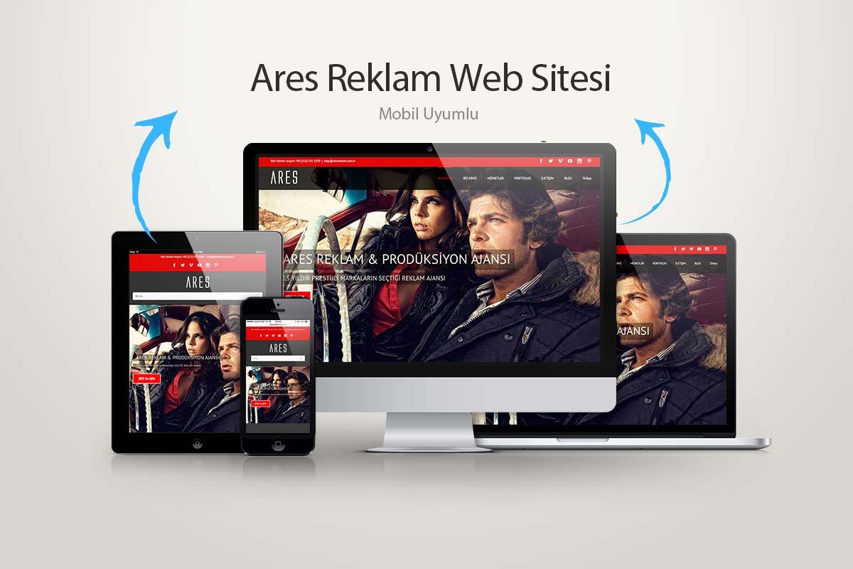 Ares Advertising web design