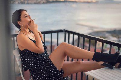 Fashion portraits of Kaya, fashion blogger. istanbul.